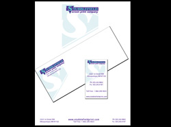 Business cards, letter head and envelopes
